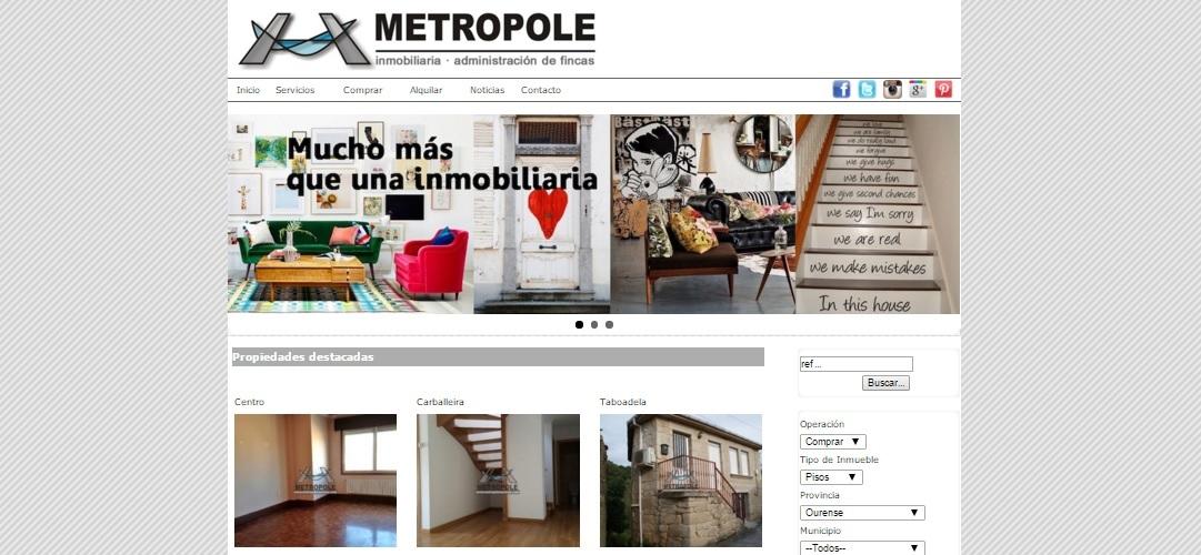 web inmobiliaria metropole ourense